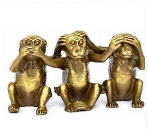Angoter Estatua de Cobre Tres Monos sabios oyen para no Habl
