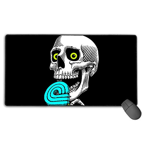 Peralta Skateboard Skate Skul 40X75 cm Gaming Mouse Mat Suitable for Games, Office Working