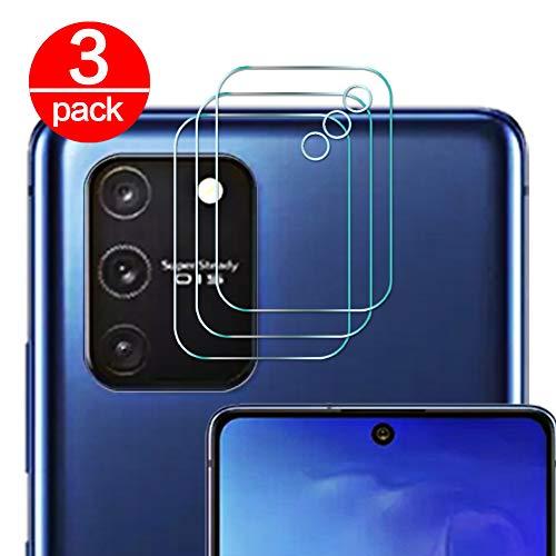 [3 Pack] Cristal Templado para Lente Cámara de Samsung Galaxy S10 Lite, Ultra Fino Protector 2.5D 9H de Dureza Cámara Trasera Lente Película de Pantalla