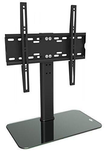 RICOO FS304-B, TV-Ständer Höhenverstellbar 30-55 Zoll Bildschirm bis 40-kg Flachbild-Fernseher Stand Curved Fernseh-Halterung, VESA 200x200-400x400