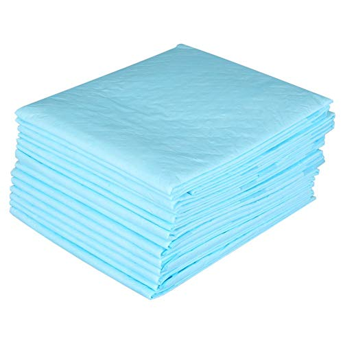 Wegwerp incontinentie-pads, 15 stuks, voor kinderen en volwassenen, voor oudere pee-absorberende bedonderpads, 23,6 x 23,6 inch blauw