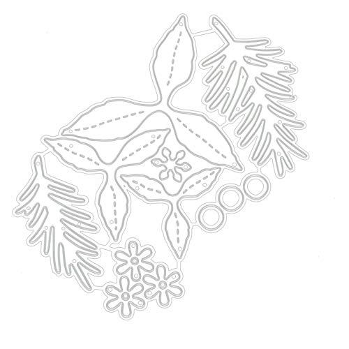 Damen Scrapbooking Cutting Dies Bloom Flower Metal Cutting Dies Stencil Paper Cards Gift Box Reusable Cut Dies for Card Making Scrapbooking Paper DIY Craft Photo Album Decor Gifts