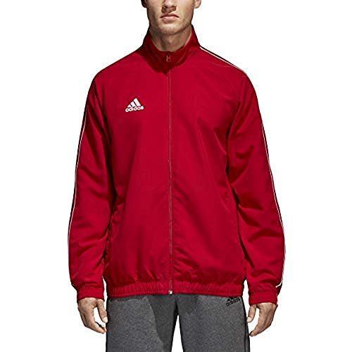 adidas Men's Core 18 Presentation Jacket, Power Red/White, Small