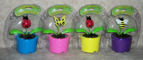 Solar Powered Dancing BUG (Set of 4) - Bee, Butterfly & (2) Lady Bugs