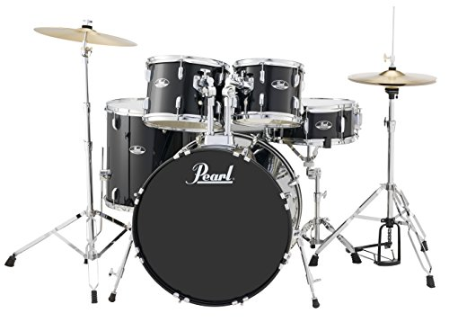 Pearl Roadshow RS525SC/C31 5-Piece Drum Set, Jet Black