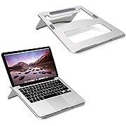 Stoga Laptop Ständer, Multi-Winkel verstellbar Notebook Ständer für Laptop und Tablet in 15,6 Zoll-Silber
