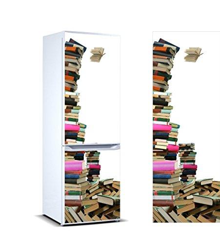 Stickers Autocollants Frigo Livres Mesure 185 x 60 cm | Vinyle Adhésif Résistant et facile d'appliquer | Étiquette Adhésive Décorative d'une conception élégante |