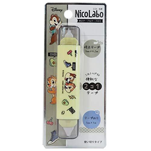 チップ&デール[修正テープ & テープのり]Nico Laboディズニー