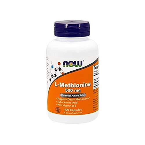 Now Foods L-Methionine Schwefel-Amionosäure Mit Vitamin B-6 500mg - 100 Kapseln