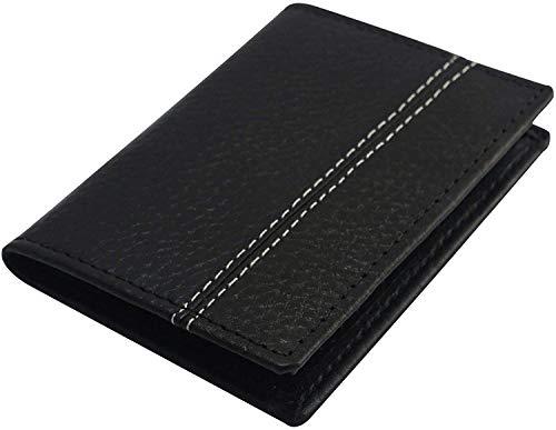 AMEHA Funda para tarjetas de crédito y identificativas, Billetera para Tarjetas de Delgada con protección de Cerradura RFID, Cuero