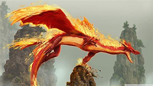 Dragon Blade Wrath Of Fire 5D Diamond Painting Kit Completo Di Trapano Art Craft Fornitura Di Tela Per La Decorazione Della Parete Di Casa Adulti E Bambini La Vita È Ciò Che Si Cuocia - 40 X 50Cm