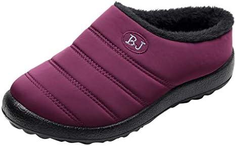 YWLINK Zapatillas Impermeables para Mujer Al Aire Libre Botas De Nieve CáLidas De Invierno Zapatillas De AlgodóN Confort Antideslizantes Zapatos De Casa Calzado Interior Y Exterior