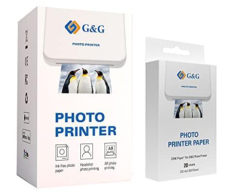 G&G Mini Pocket Photo Printer GG-PP023...