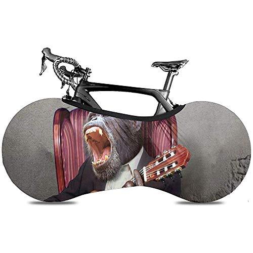 Fahrradabdeckung,Schimpanse Spielen Die Gitarre Singer Ausgezeichnete Bike Covers Für Mountainbikes Oder Rennräder