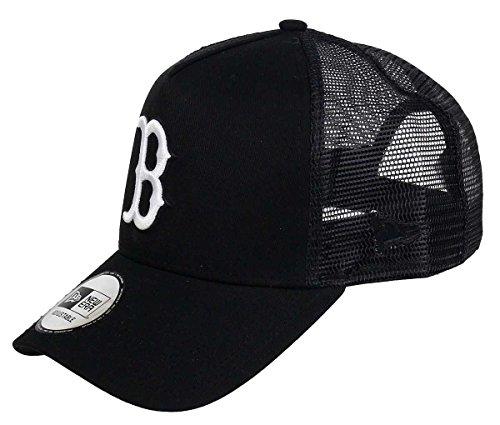 New Era Boston Red Sox A Frame Trucker Cap Black White Edition Black - One-Size