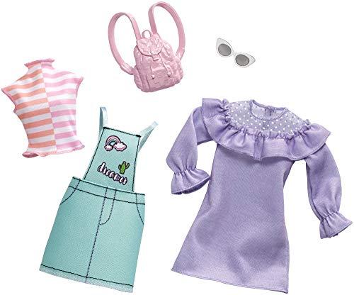 Barbie Fashionistas - Ropa de Barbie con 2 conjuntos completos, ropa y...