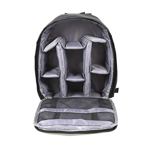 DUNRU Camera Case Multi-functional Waterproof Dslr Camera Photo Lens Bag Backpack Knapsack Large Capacity Portable Travel For Outside Photography Camera Bags (Color : Type 2 Grey)