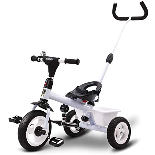 Lowest Prices! Nightcore Kids Tricycle, Baby Stroll Trike, ABS Foot Pedals, Storage Bag, Inflation-F...