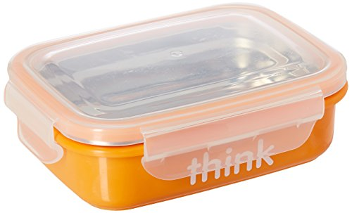 Lowest Price! Thinkbaby BPA Free Bento Box - Orange Pack of 2
