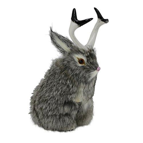 D DOLITY Realistische Wolpertinger der süße Hingucker Spielzeug Tierfigur Dekofigur Spielzeug Wohnkultur, Grau/Gelb/Weiß - Grau