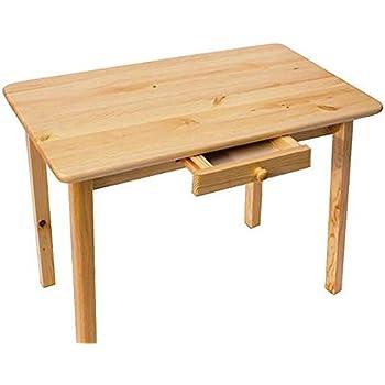 Esstisch mit Schublade Küchentisch Tisch Kiefer massiv