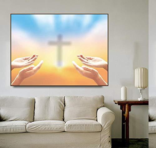 BailongXiao Religiöse Malerei Kalligraphie Poster Home Wohnzimmer Dekoration Malerei Künstler Home Dekoration,Rahmenlose Malerei,50x60cm