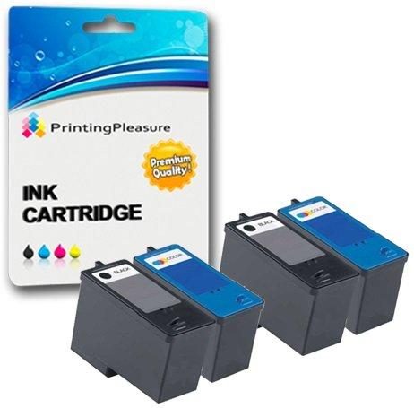 4 Druckerpatronen für Dell All-In-One 926 Photo V305 V305W | kompatibel zu Dell Serie 9 MK990, MK991, MK992, MK993