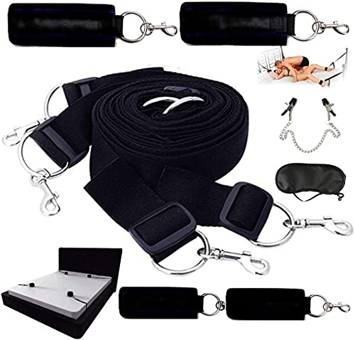 Colchas, mantas Ropa de cama Cinturón ajustable Cinturón de fijación Regalo de pareja Novedad Juguete Pulsera Decoración (Juego de 3 piezas)