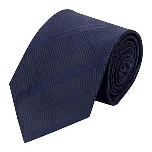 Cravatta Elegante Classica da Uomo a Righe Tinta Unita per Matrimonio Formale