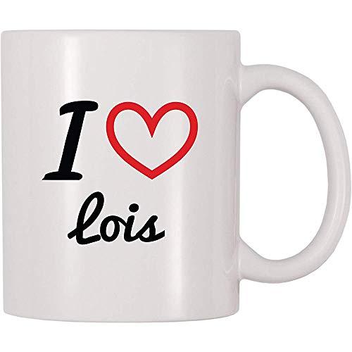 Ich liebe Lois-Kaffeetasse-Tee-Schale lustige Becher