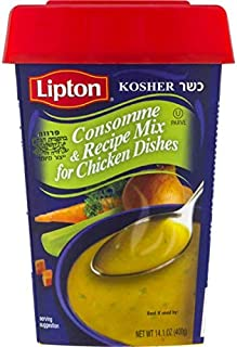 Lipton Consomme, Chicken Style Soup and Seasoning Mix, 14.1oz Canister with Resealable Lid