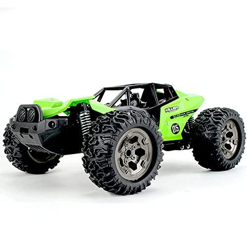 KGUANG Boy Monster Off-Road RC Car 1:12 Escala 25 km/h Cepillado 2WD de Alta Velocidad Bigfoot 2.4G Buggy de Control Remoto inalámbrico Recargable Modelo de Coche de Juguete para niños