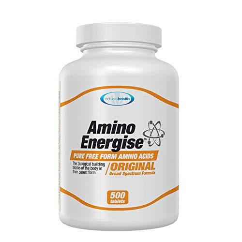 Educohealth Amino Energise, Free Form Amino Acids, Broad Spectrum Formula, 500 Tablets