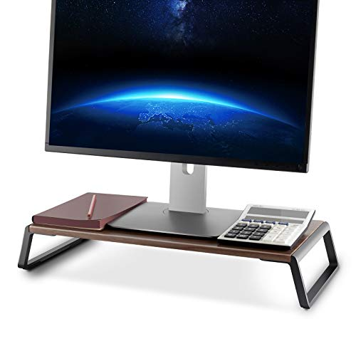 Upergo Monitor Stand Riser, Desktop ,Ergonomic Computer Riser Monitor Stand with Aluminum Feet for Laptops, Printers, PCs, Small TVs, Keyboard Storage, Monitor Riser Desk Organizer for Home & Office