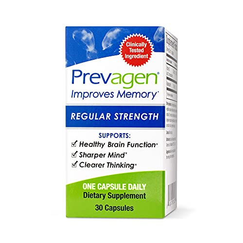 Prevagen Improves Memory Regular Strength 10mg  30 Capsules with Apoaequorin & Vitamin D   Brain Supplement for Better Brain Health  Supports Healthy Brain Function