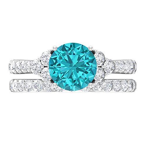 Anillo de ónix negro de 8 mm, D-VSSI Moissanite, anillo de novia, 7 anillos de piedra, anillo solitario con piedras laterales, 14K Oro blanco, ónix negro, Size:US 66