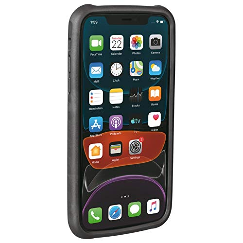 Topeak Unisex– Erwachsene RideCare für iPhone 11 Smartphonehülle, schwarz-grau, ohne Halter