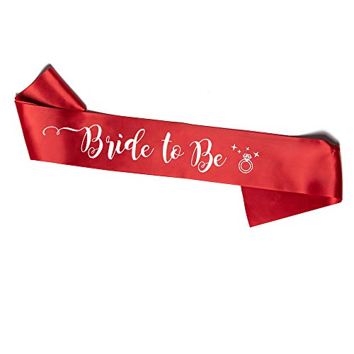 Sciarpa Rosa Bride to Be per la Futura Sposa (Rosso)