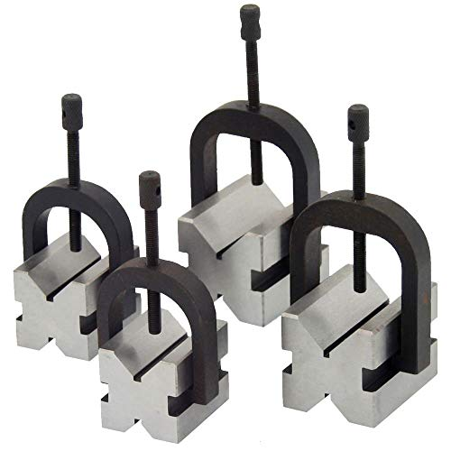 Anytime Tools 8 pc V-Block & Clamp Double Sided 90 Machinist Tool