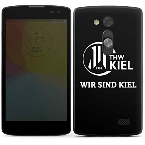 DeinDesign Folie kompatibel mit LG L Fino Aufkleber Skin aus Vinyl-Folie Handball THW Kiel Fanartikel