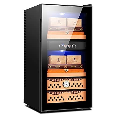 VIY Nevera vinos Vinoteca 8 Botellas de Capacidad Temperatura Regulable Panel táctl Display Digital luz LED Dual-Zone,A