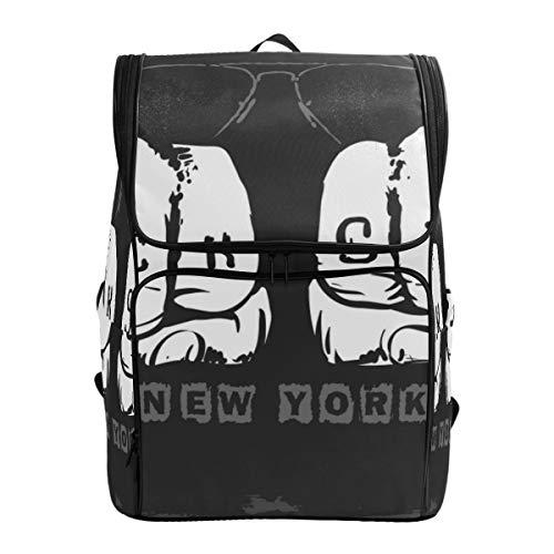 LISNIANY Rucksack,Rockstar Grafikdesign Vektor Illustration,Computertasche,Schultasche,große Kapazität