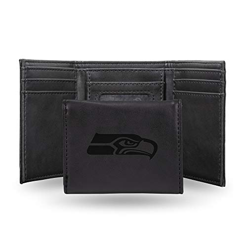 NFL Rico Industries Laser Engraved Trifold Wallet, Seattle Seahawks