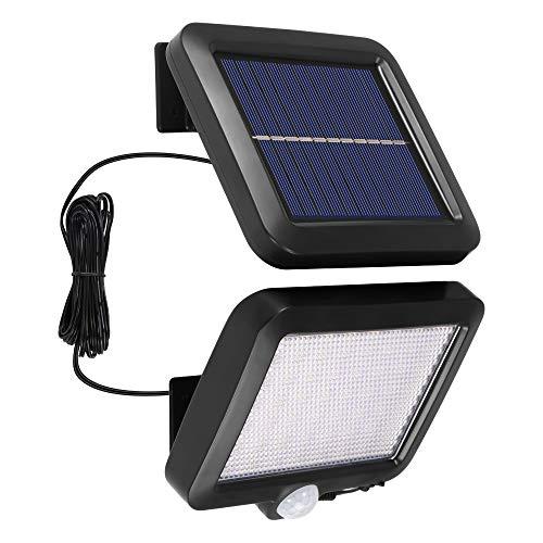 Lampada da parete ad energia solare, Laiashley 56 LED Lampada con sensore di movimento Faretto solare Luci di sicurezza solari impermeabili per garage Portico Patio Giardino Passo carraio