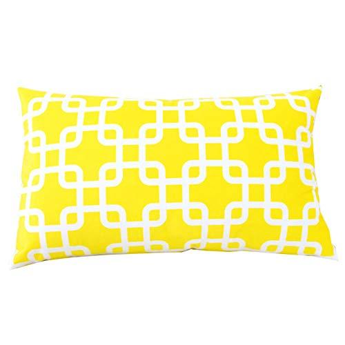 Nuobaby decoratief kussen sierkussen sofakussen geometrisch kussen 50 x 70 cm + kussen kern geel vierkant