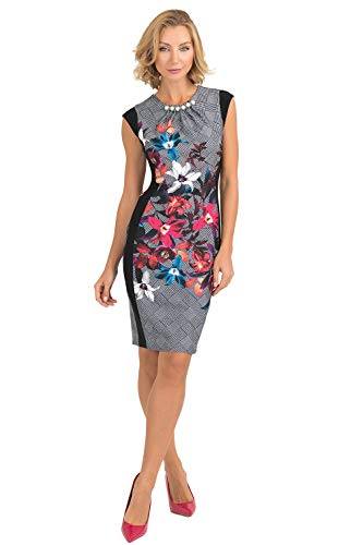 Joseph Ribkoff Women's Dress Style 193647 - - 20 Multi/Black