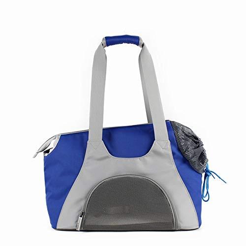 Scra AC Tragbare atmungsaktive Bequeme Oxford-Stoffhundekatzenhandtaschen-Umhängetasche des blauen Haustierbeutels im Freien