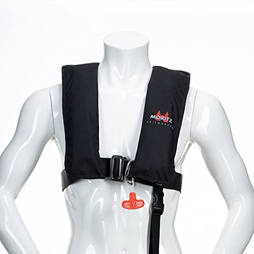 Automatik-Rettungsweste ISO Professional Harness 300N HR (Alpha Black) Schwimmweste von Moritz Sailmakers