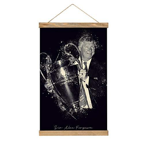 Lienzo de alta calidad para colgar una imagen, póster de Sir Alex Ferguson-iE97, mural, fácil de instalar