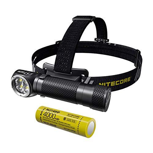 Nitecore HC35 Linterna Frontal USB Recargable - LED Alta Potencia 2700 Lúmenes con 8 Modos de Luz - Linterna Cabeza Impermeable IP68 ([ 21700 Batería Recargable Incluida ])